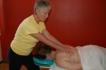 Deb doing massage