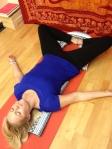 sb konasana w blanket over feet, under thighs