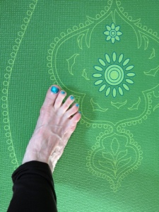 Green mat for park yoga